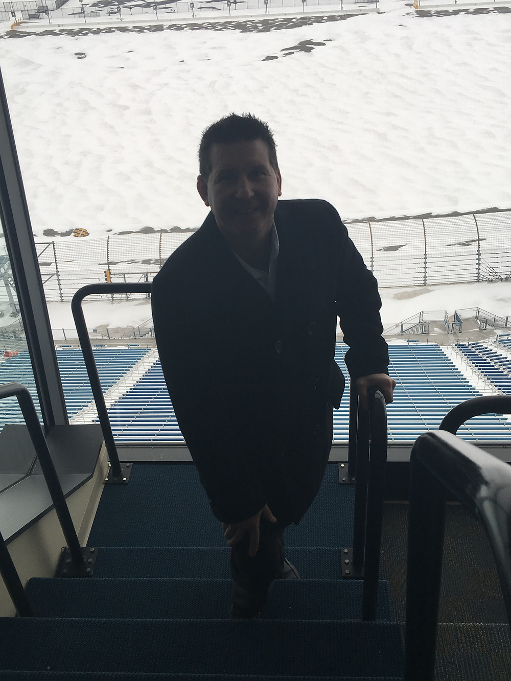 This was my first day on the job at Chicagoland Speedway on February 16, 2016. Standing in the press box at the speedway, which would be my new home, was such an amazing feeling.