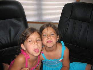 My Twin Nieces and Their Younger Days