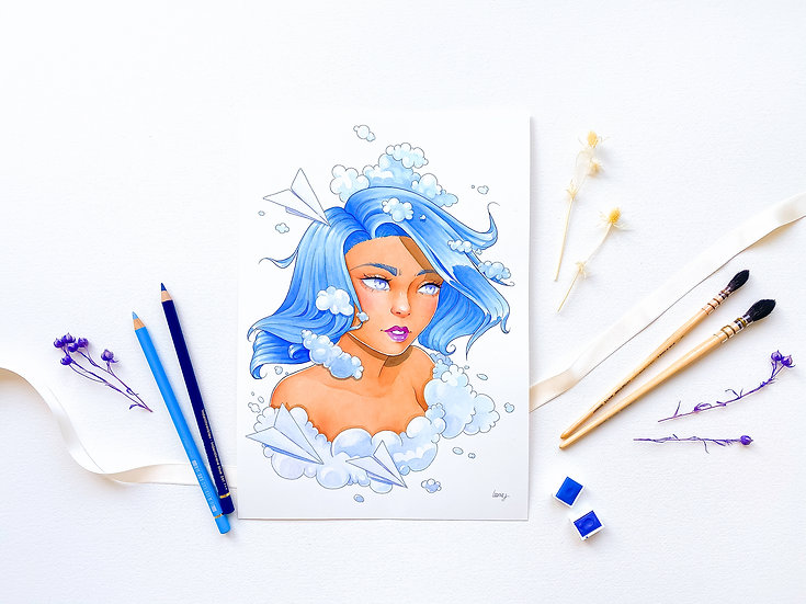 Sky Blue - Limited Edition Print