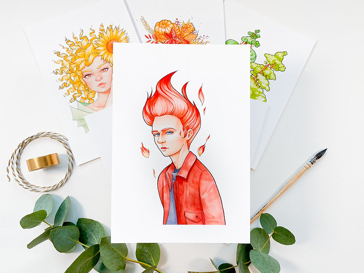 Red A5 Print