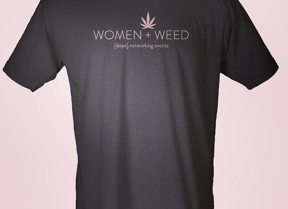WOMEN + WEED Unisex Black Tee