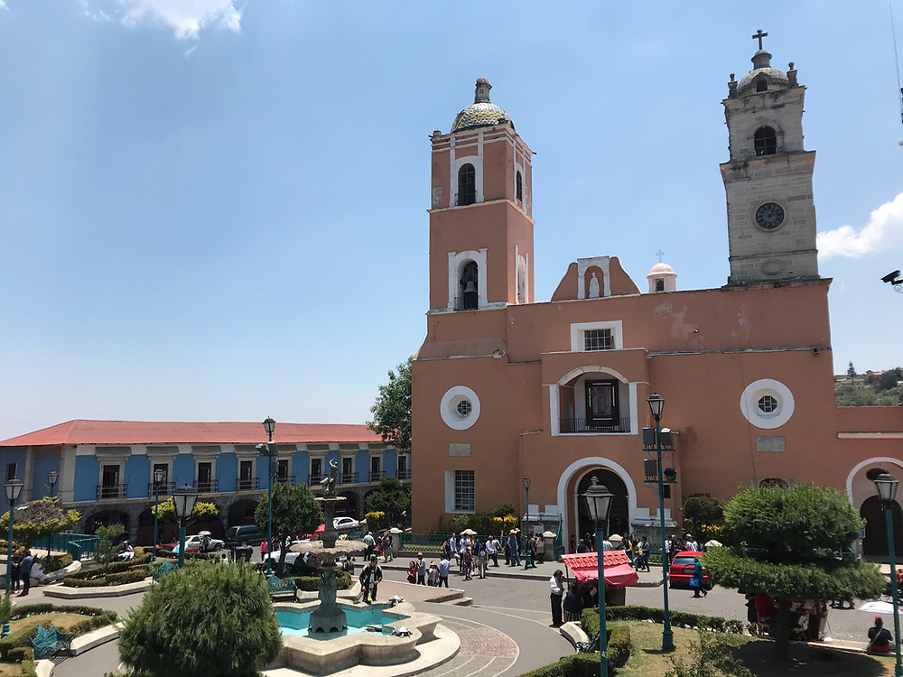 real del monte cathedral main plaza