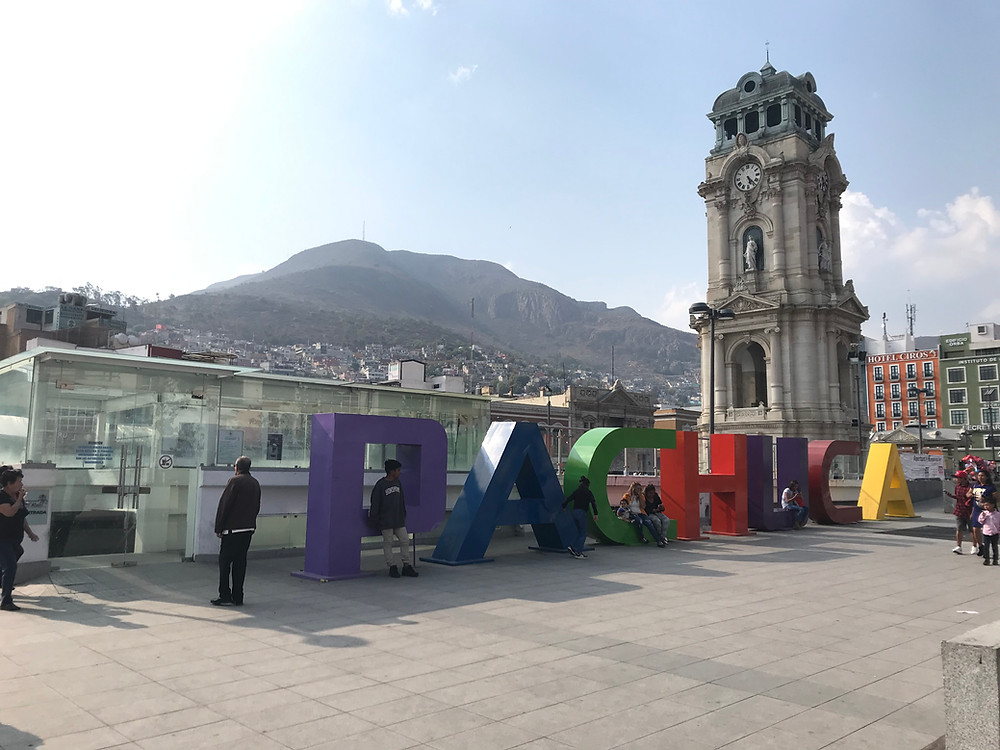 Clock tower big ben pachuca mexico
