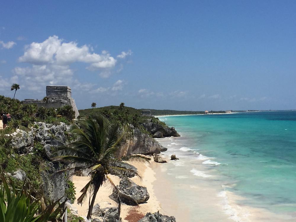Tulum mayan ruins beach