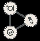 Logos correspondant à la nutrition, micronutrition, supplémentation et santé environnementale