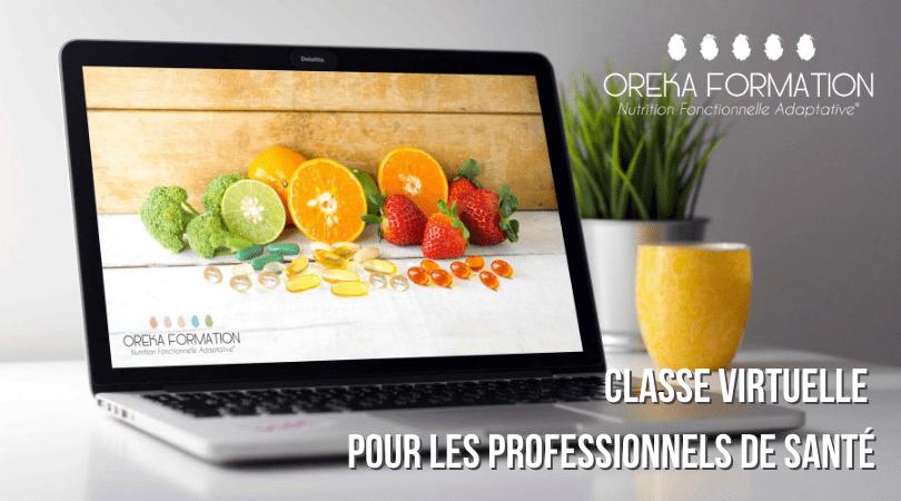 Ordinateur utile pour une classe virtuelle de nutrition fonctionnelle
