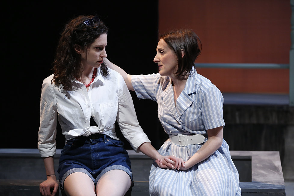 Barrie Kreinik (Fiona), Aedin Moloney (Morag) in When I was a Girl I used to Scream and Shout by Sharman Macdonald - Fallen Angel Theatre's 2016 Off Broadway Premiere