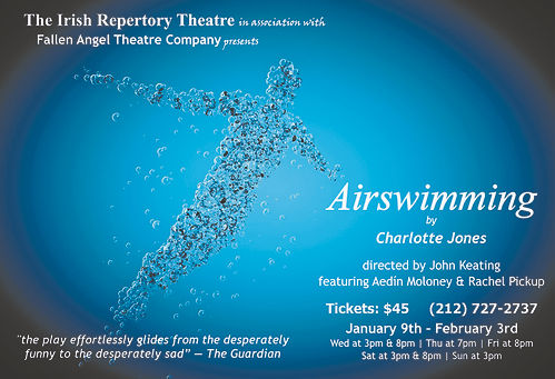 Airswimming by Charlotte Jones. The US premiere presented by Fallen Angel Theatre, New York, 2011