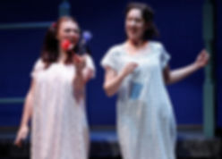 Zoe Watkins (Vari), Barrie Kreinik (Fiona) in When I was a Girl I used to Scream and Shout by Sharman Macdonald - Fallen Angel Theatre's 2016 Off Broadway Premiere