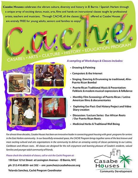 CACHE community outreach program at Casabe Houses, NYC