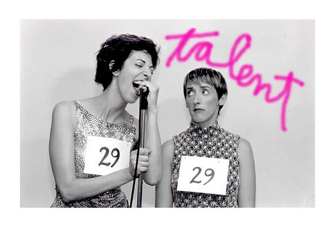 Laura Knight Keating & Aedin Moloney in the US Premiere of Talent by Victoria Wood. 2004 by Fallen Angel Theatre Company