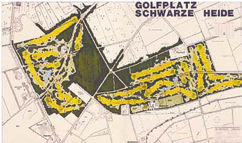 Plan 2: Um das Gehöft Vosselmann wurden die zweiten 9-Loch einer genehmigten 18-Loch-Planung realisiert