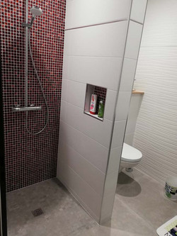 douche avec une niche