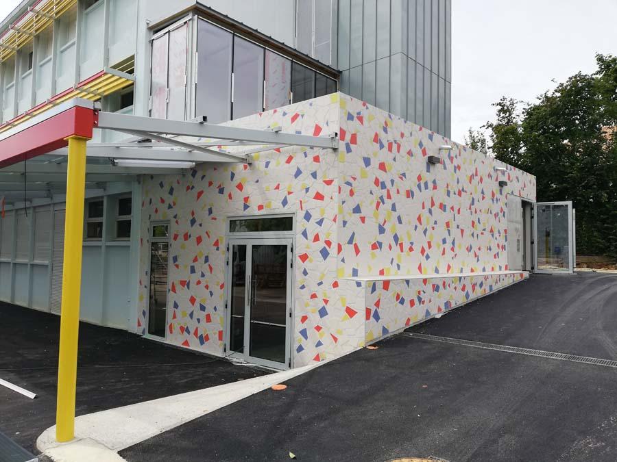 façade mosaïque