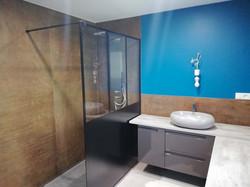 réalisation d'une douche en carreaux