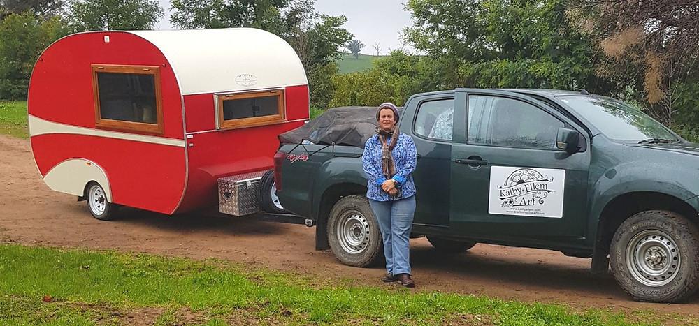 Kathy Ellem artist caravan