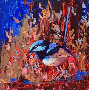 Ultra blue wren