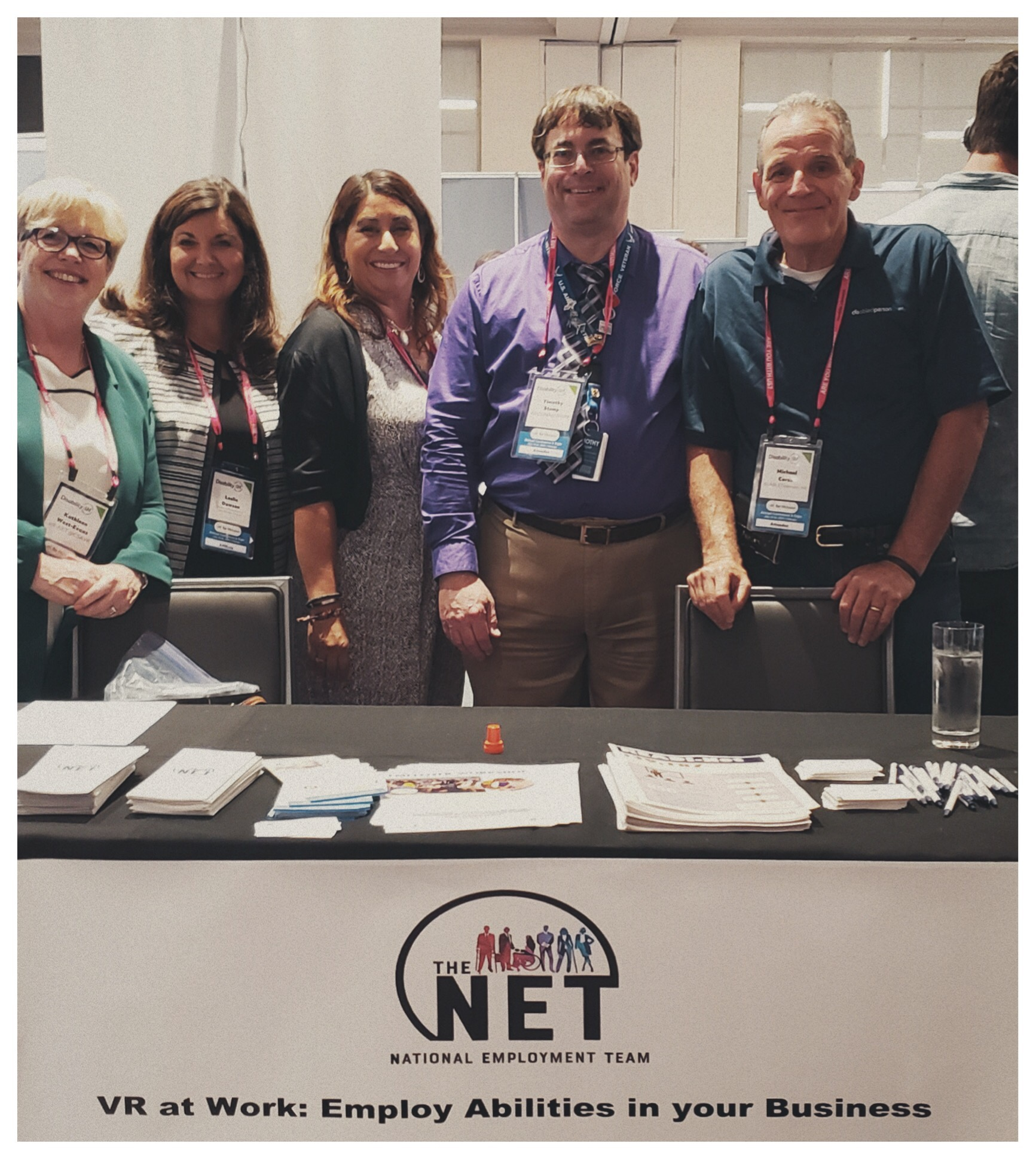 NET booth at expo