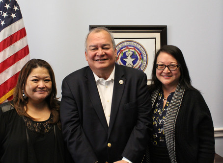 Representative Gregorio Kilili Camacho Sablan Receives Visit from OVR Leadership