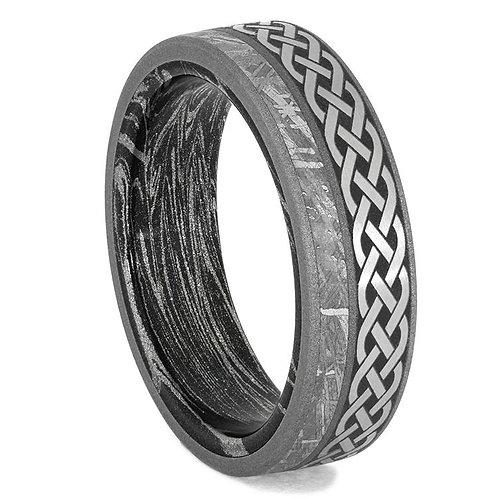 Meteorite Celtic Titanium Ring