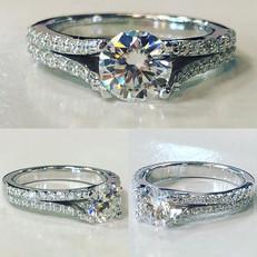 Beautiful split shank prong set diamond