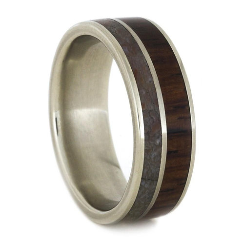 14kt gold double wood band