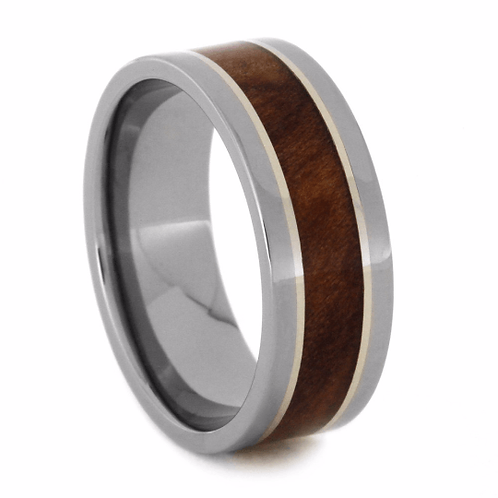 Wood Titanium Ring