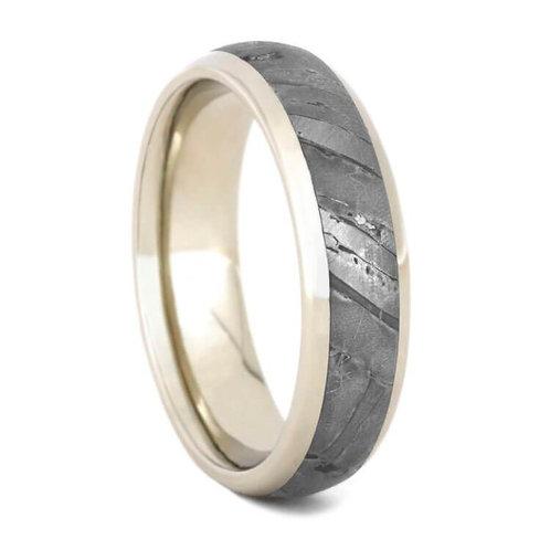 Meteorite 14kt Gold Ring