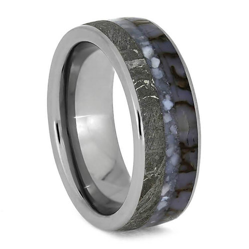 Meteorite Pearl Dinosaur Ring