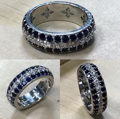 Beautiful eternity diamond band with pav