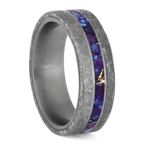 Meteorite Lava Titanium Ring