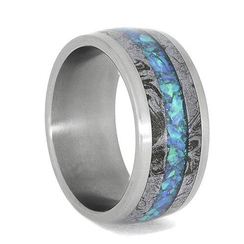 Opal Mokume Gane Titanium ring