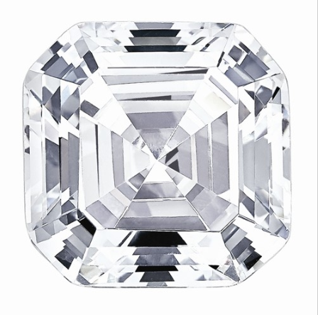 0.74 CARATS, MOISSANITE, Pure Light, E, F Color, 5MM Asscher Cut