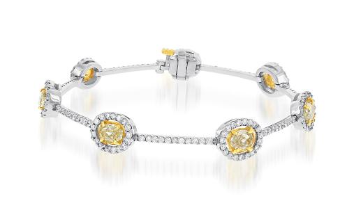 Canary Diamond Bracelet
