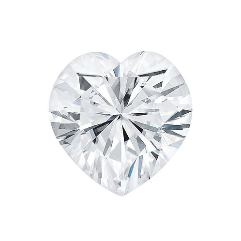0.90 carats, Charles & Colvard Forever One™ G-H-I Heart Moissanite, 6.50 MM