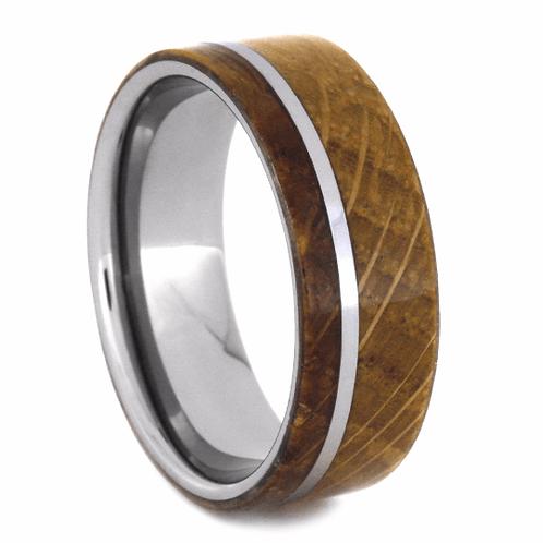 Wood Tungsten Ring