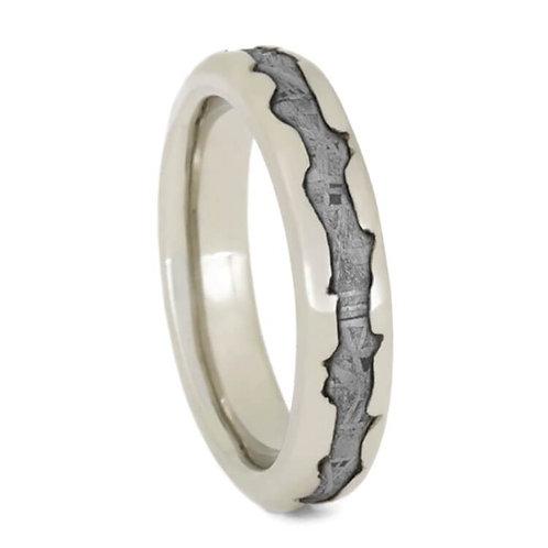 Meteorite 10kt gold ring