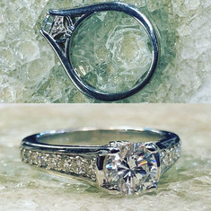 Beautiful cathedral design diamond ring