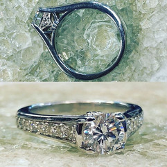 Beautiful cathedral design diamond ring