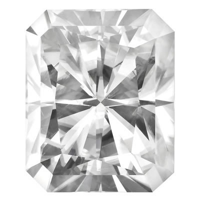 10X8mm = 3.90ct VVS1 Radiant Cut Colorless Certified NEO Moissanite