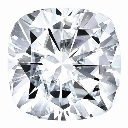 MOISSANITE, Pure Light, E, F Color, 7.5MM SQ CUSH