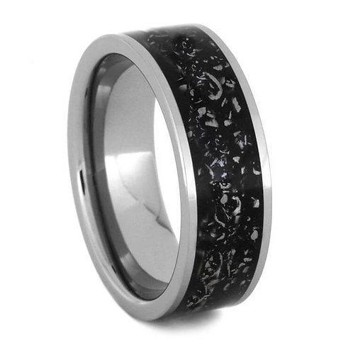 Meteorite Dust Titanium Ring