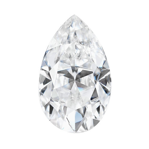0.70 carats, Charles & Colvard Forever One™ D-E-F Pear Moissanite, 7 x 5 MM