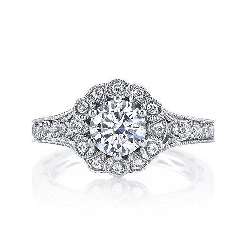 14kt Gold Floral Design Engagement Ring