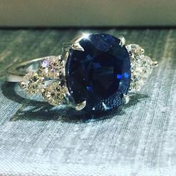Custom work done on this platinum ring c