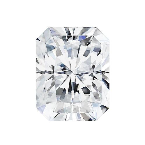 2.40 carats , Charles & Colvard Forever One™ G-H-I Radiant Moissanite, 9 x 7 MM