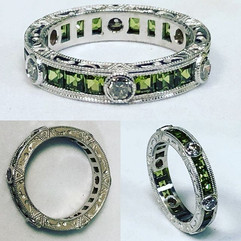 Enamored by this peridot beauty. We put