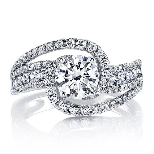 14kt Halo Moissanite  Engagement Ring