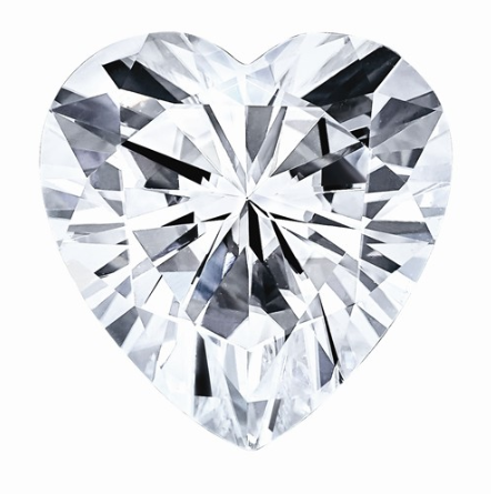 0.42 CARATS, MOISSANITE, Pure Light, E, F Color, 5MM HEART FACETED