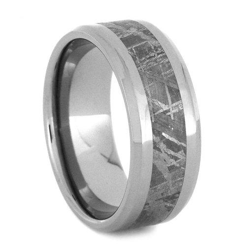 Meteorite Titanium Ring